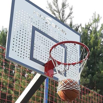 Щит баскетбольный 1200х900 мм перфорированный в комплекте с корзиной и сеткой