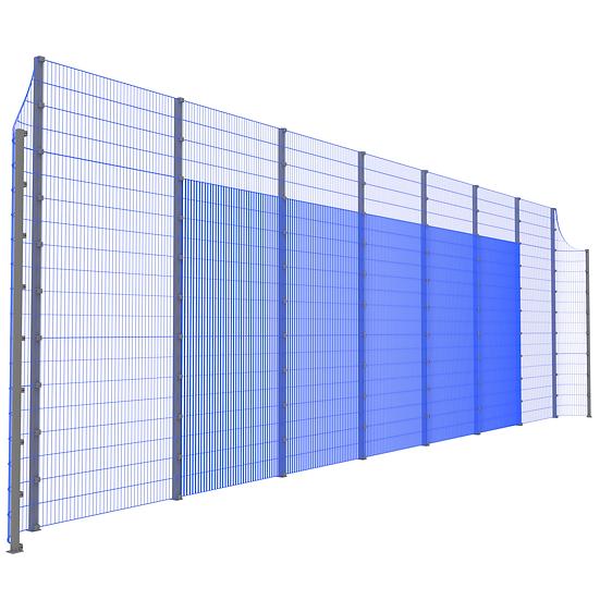 Модуль фронтальный ТРЕША™ с закруглёнными углами (L-16 м. H-5/4 м.)