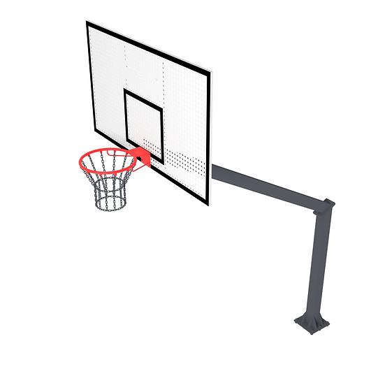 Щит баскетбольный ТРЕША™ 1800х1050 мм. на стойке с вылетом 2,25 м)