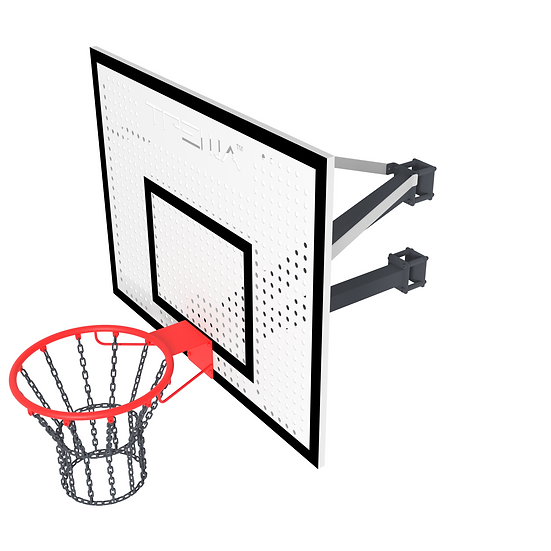 Щит баскетбольный ТРЕША™ 1200х900 мм. с кронштейном на столб (вылет 0,8 м)