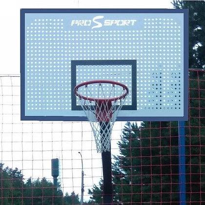 Щит баскетбольный 1800х1050 мм перфорированный в комплекте с корзиной и сеткой