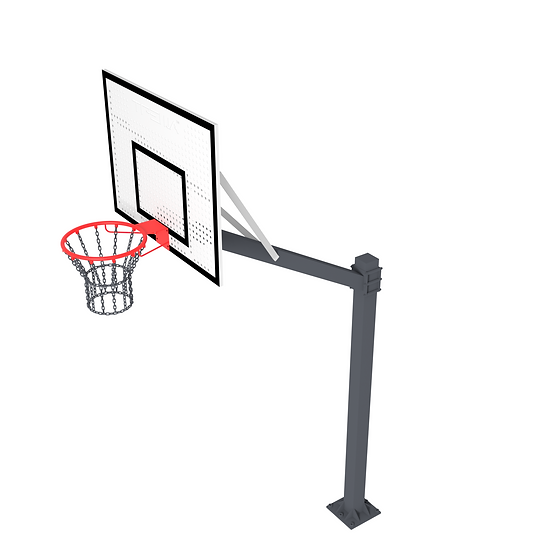 Щит баскетбольный ТРЕША™ 1200х900 мм. на регулируемой стойке (вылет 1,5 )