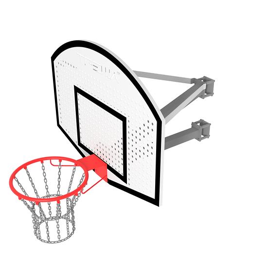 Щит стритбольный ТРЕША™ 1200х900 мм. с кронштейном на столб (вылет 0,8 м)