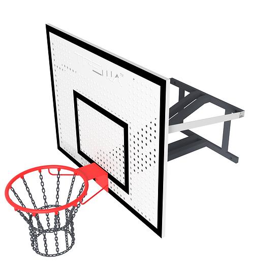 Щит баскетбольный ТРЕША™ 1200х900 мм. с кронштейном для стены (вылет 0,8 м)