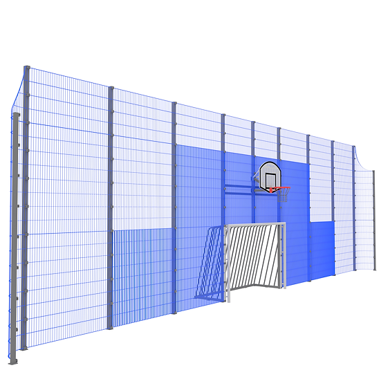 Мультиспортивная фронтальная стенка ТРЕША™ (16 м. H-5/4 м)