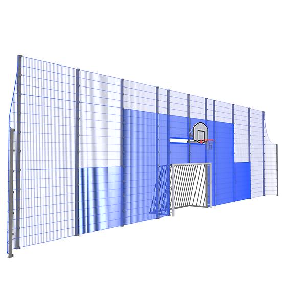Мультиспортивная фронтальная стенка ТРЕША™ (18 м. H-5/3 м)