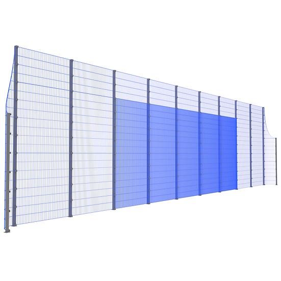Фронтальная ударостойкая стенка ТРЕША™ с закруглёнными углами (20 м.  Н-5/3 м.)