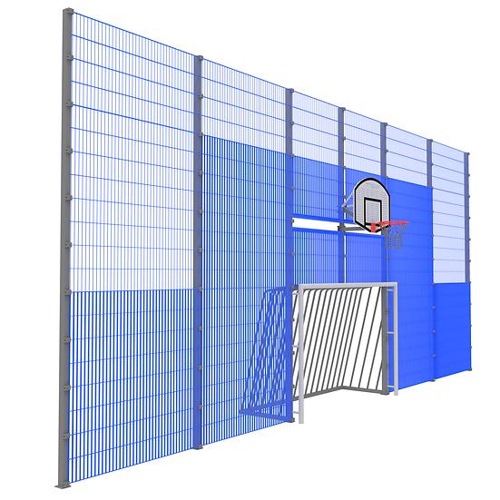 Мультиспортивная фронтальная стенка ТРЕША™ (13 м)