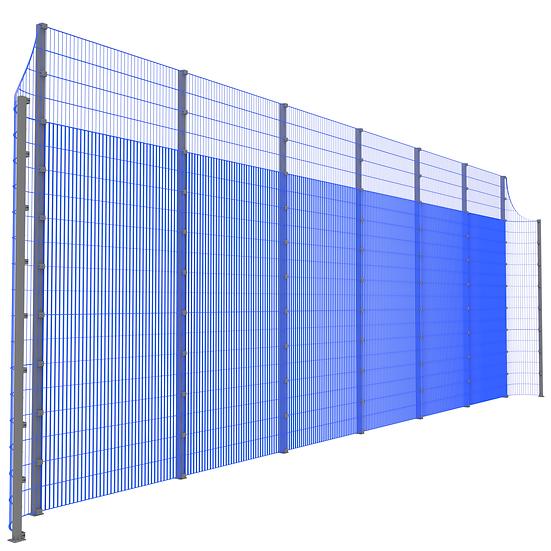 Модуль фронтальный ТРЕША™ с закруглёнными углами (L-13 м. H-5/4 м.)