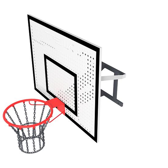 Щит баскетбольный ТРЕША™ 1200х900 мм. с кронштейном для стены (вылет 0,5 м)