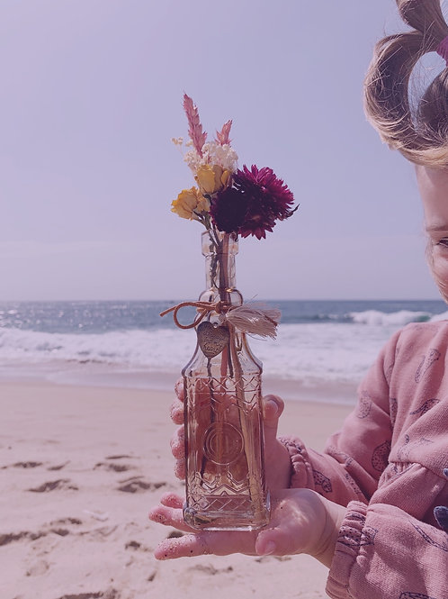 Message & Flowers in the Bottle