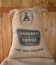 Direct Trade Coffee, burlap sack