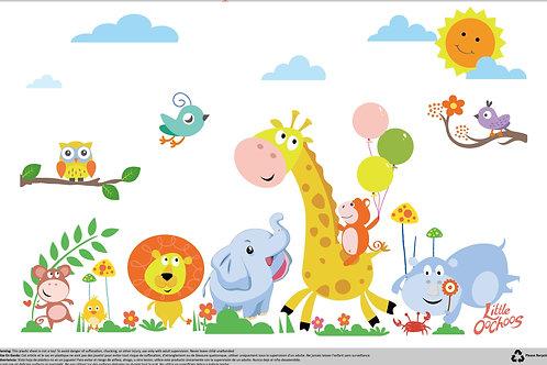 Little Oochoos Disposable Placemats 60 Count - Safari Theme