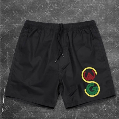 Juneteeth Embroidered Beach Shorts