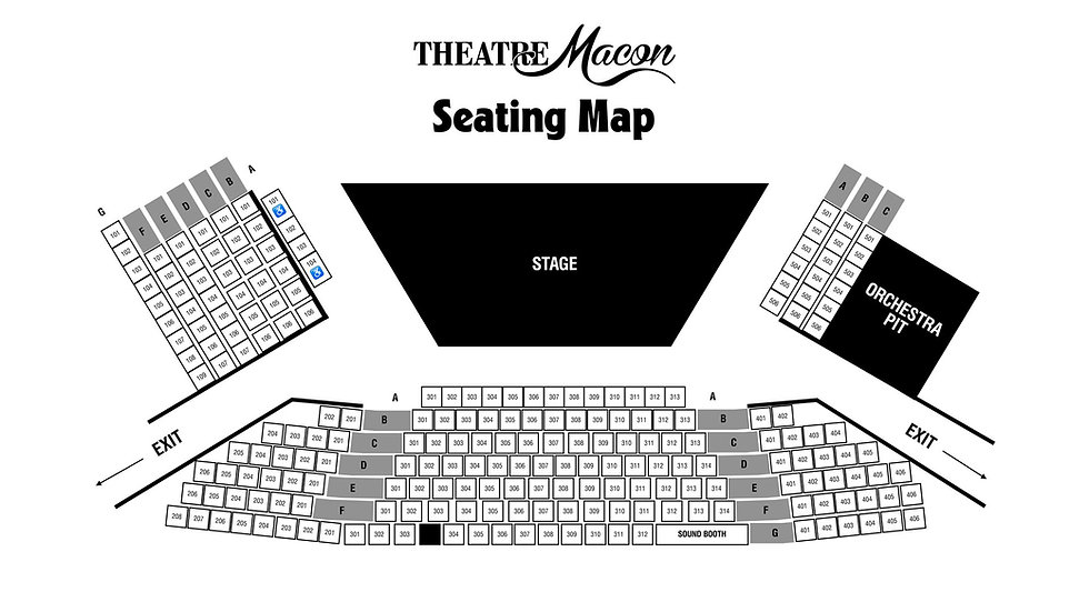 Theatre Macon's Seating Chart
