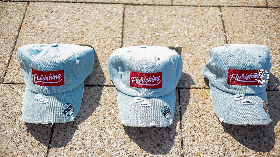 Flurishing - Denim Dad Hat