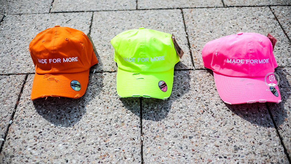 Made For More - Neon Vintage Dad Hat