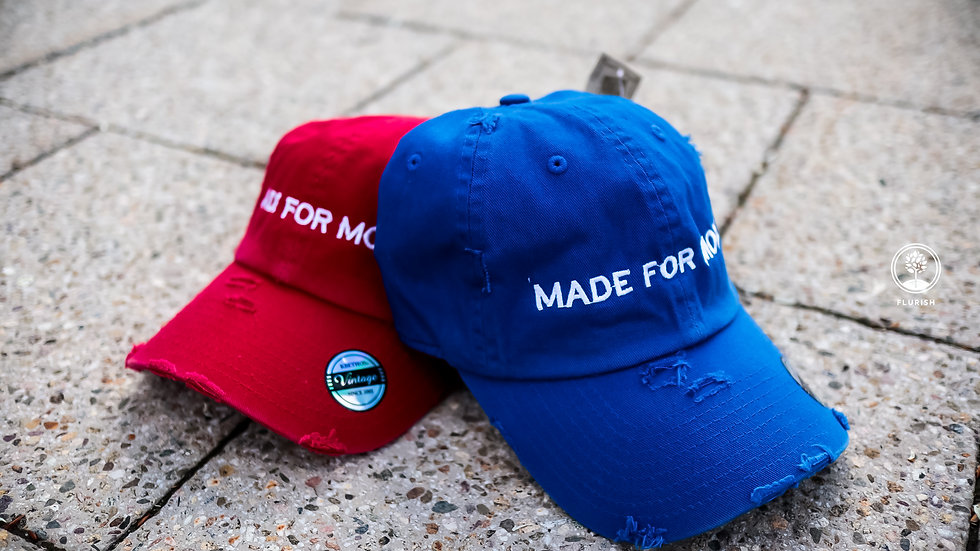 Made for More - Red/Royal Vintage Dad Hat