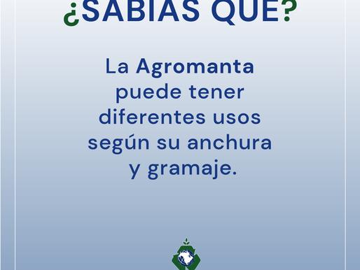 🤔 ¿Sabías qué según su anchura y gramaje la agromanta puede tener diferentes usos?