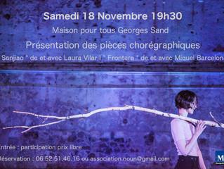 Présentation des soli de Laura Vilar et Miquel Barcelona à Montpellier