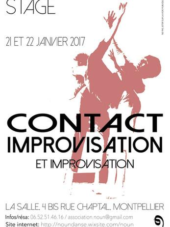 stage contact improvisation Montpellier