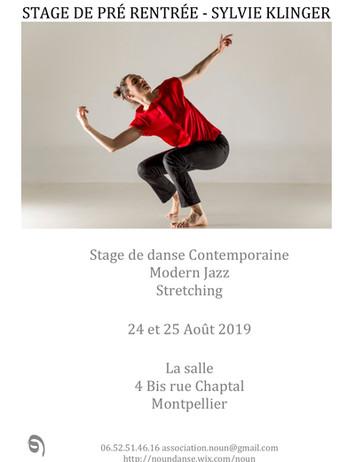 Stage de pré-rentrée Noun 2019 Sylvie Kl