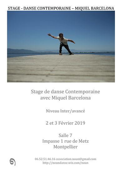 Visuel STAGE Miquel Barcelona Noun Danse
