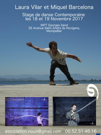 Flyer stage Miquel Barcelona et Laura Vi