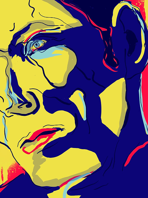 "Super Hero Blues - 16"" x 20""  Print"