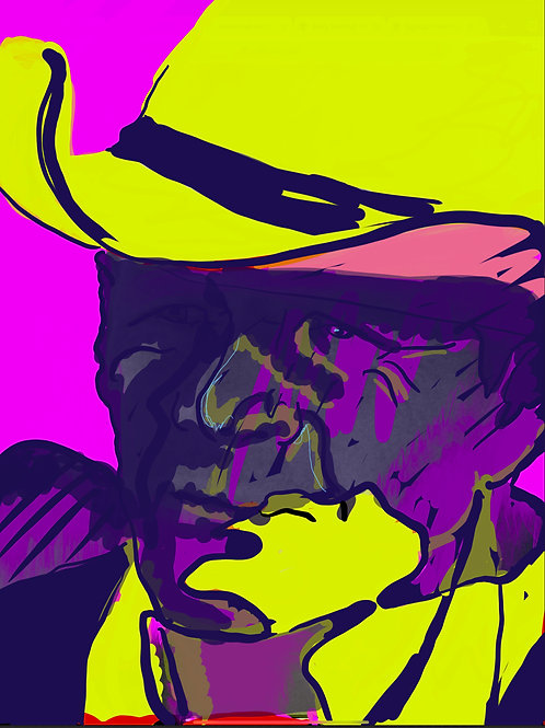 "Cowboy Blues II - 16"" x 20"" Print"
