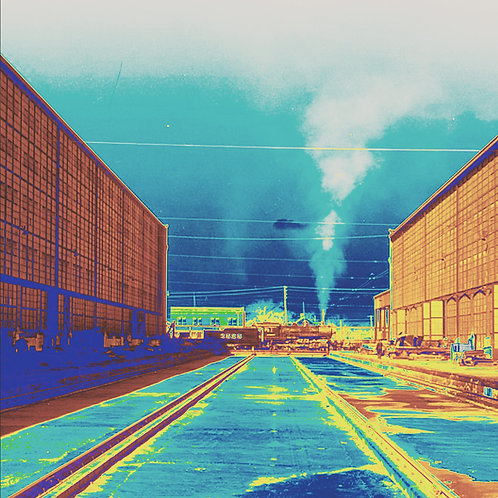 """Train Depot - 16"""" x 20"""" Print"""