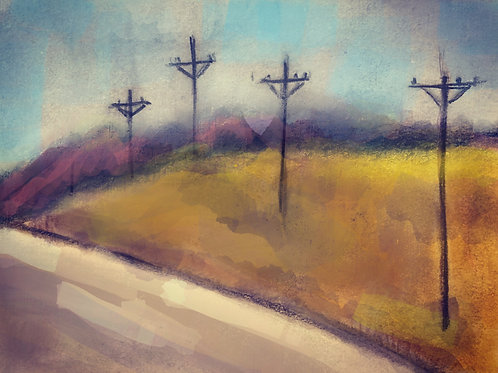 """Route 36 - 18"""" x 24"""""""