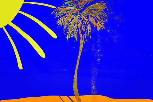 "Sunshine Happiness Blue - 18"" x 24"" Print"