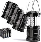 Vont 4 Pack LED Camping Lantern, LED Lantern, Suitable for Survival Kits
