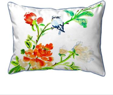 Blue Birds Small Pillow