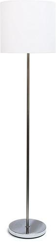 Brushed Nickel Drum Floor Lamp
