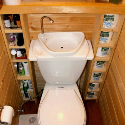 Increase the size of our RV Bathroom with a Toliet/Sink