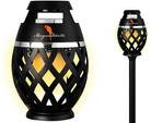 Two Pack Margaritaville Sounds of Paradise Outdoor Tiki Torch Bluetooth Light-Up Speaker- No Flame LED Lanterns/Lamp