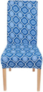 Stretch Printed Dining Chair Covers, Spandex Removable Washable Dining Chair Protector Slipcovers - Set of 2