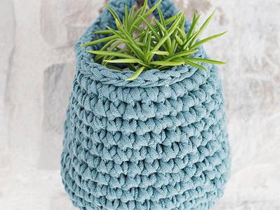 Crochet Eyeglass Hanging Basket