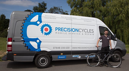 Precision Cycles mobile bicycle workshop
