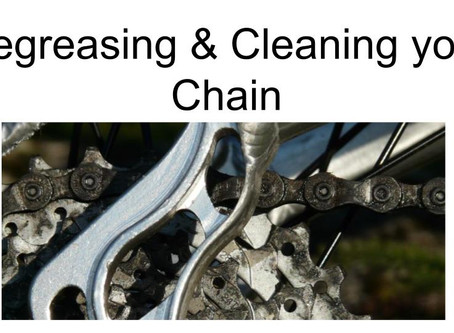 A simple guide to de-greasing and oiling your chain.