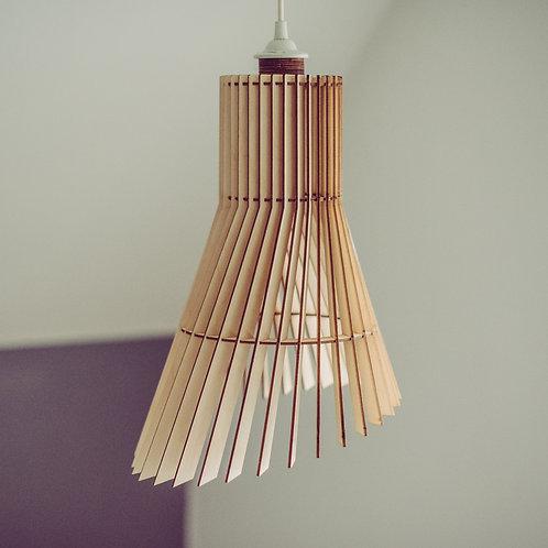 designlampe træ trælampe