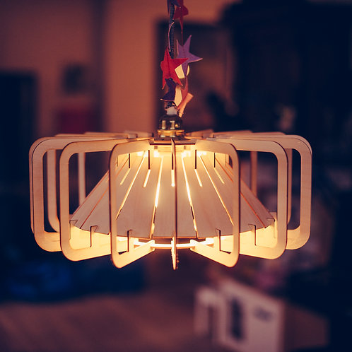 Design lampe træ