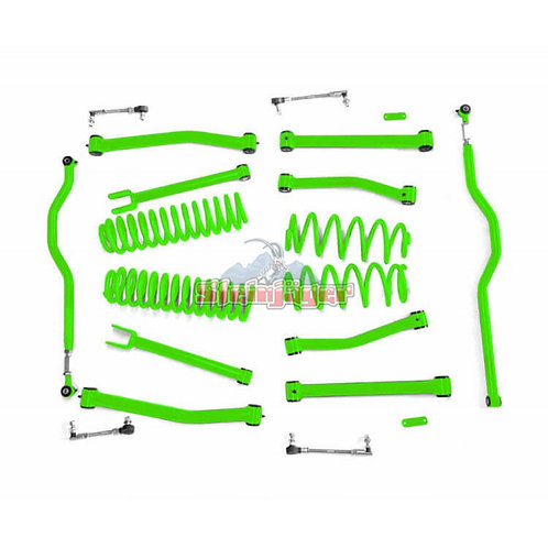 STE-J0044933. 4in Neon Green Lift Kit for Jeep Wrangler JK and JKU