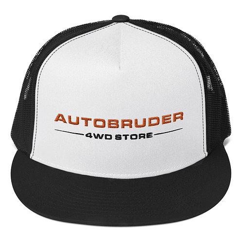 AUTOBRUDER Black & White Trucker Cap