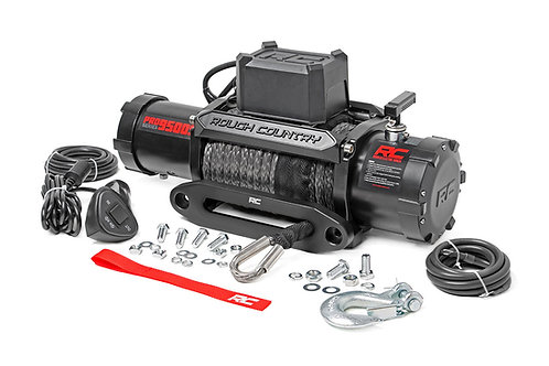 ROUGH COUNTRY PRO9500S Pro Series Electric Winch 9500lb Synthetic Rope