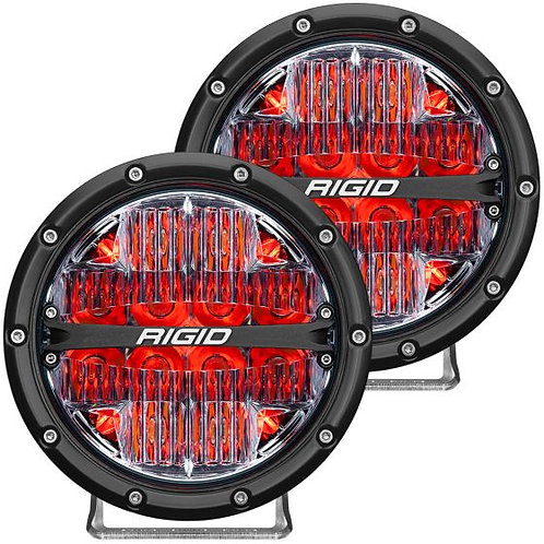 "RIGID INDUSTRIES 36205 360-Series 6"" LED Fog Light Drive Beam Red Black"