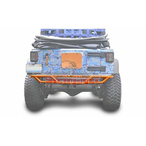 STE-J0048159. Orange Rear Tubular Bumper for Jeep Wrangler JK 0-