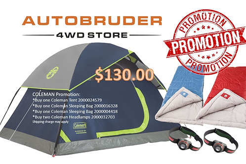COLEMAN Promotion: One Tent + Two Sleeping Bags + 2 Headlamps